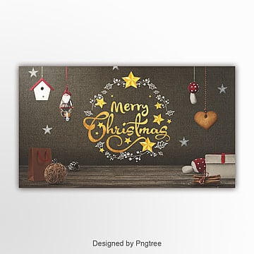 retro fashion simple christmas happy festival website banner Template