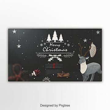retro fashion simple christmas page banner Template