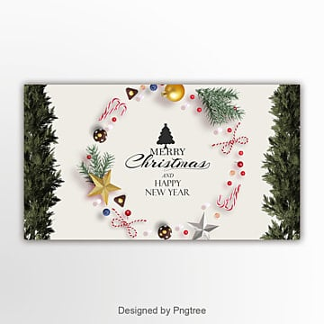 simple fashion christmas new year page banner Template