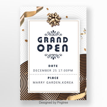 simple fashion opening promotion invitation letter template