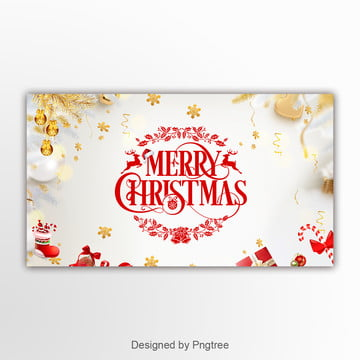 simple golden christmas event banner Template