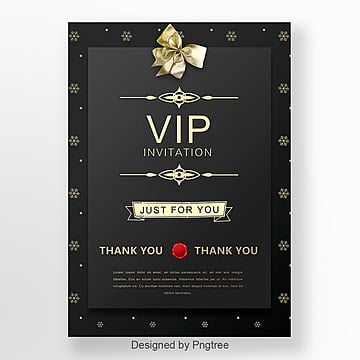 black-business-high-end-vip-invitation-letter-png_45768 Vip Letter Template on vip button, vip flyer, vip airport welcome sign,