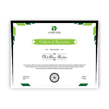 Certificate Template Award Border PNG And Vector