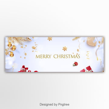 white simple christmas banner Template
