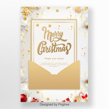 golden petals christmas invitation letter Template
