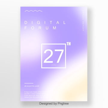 purple south second  7 digital forum posters Template