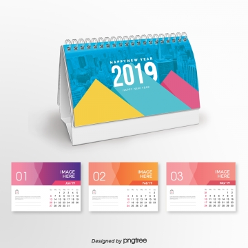 the executive 2019 calendar blue Template