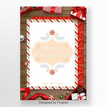 fresh and red christmas card invitation Template