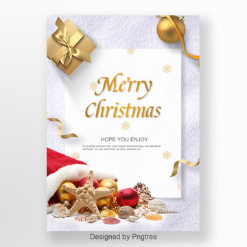 christmas gold font and first poster design Template
