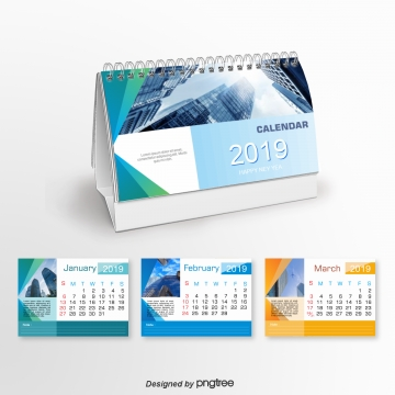 blue go about business 2019 years calendar Template