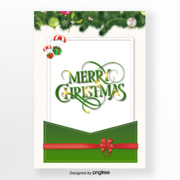 green christmas envelope reception and poster Template