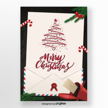light yellow envelope christmas invitation poster Template
