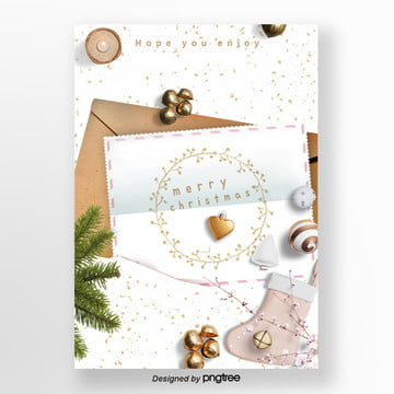christmas envelope style and poster design Template