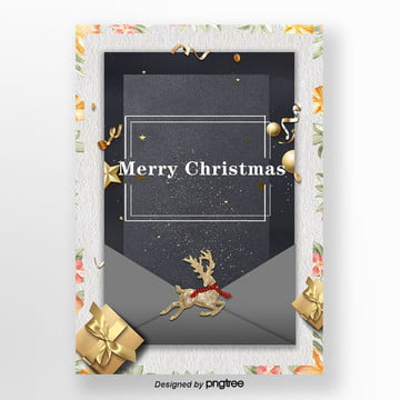 christmas crest christmas invitation poster Template
