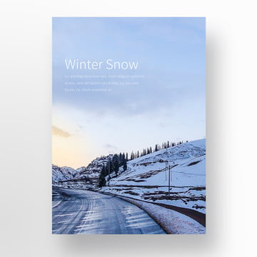 during the winter of blue ice and snow poster Template