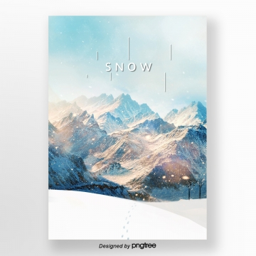 blue warm winter the clear poster Template