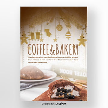 coffee and cocoa brown christmas winter sweets poster Template