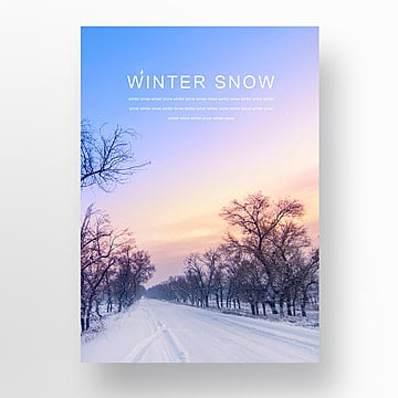 during the winter  the snow fresh fashion poster Template