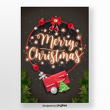 merry christmas neon light word propaganda poster art Template