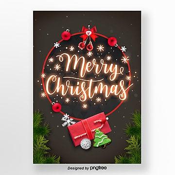 merry christmas neon light word propaganda poster art Template