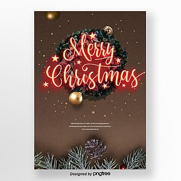 propaganda poster art print merry christmas neon light Template