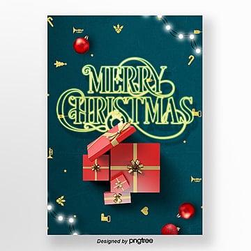 modern fashion christmas neon light art print poster Template