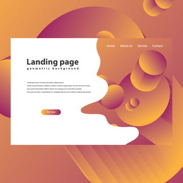 modern trendy landing page Template