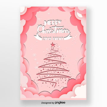 pink christmas tree decoration 2019 english poster bed, 2019, Simple, Cute PNG and PSD