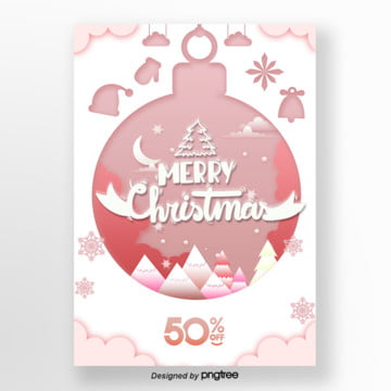 pink christmas the promotional poster Template