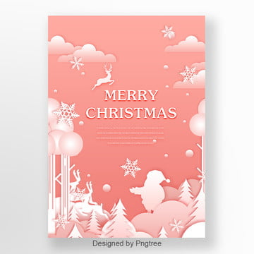 pink christmas poster in medicine field Template