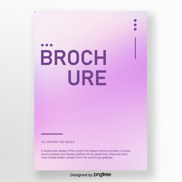 purple gradually changes to the business poster Template