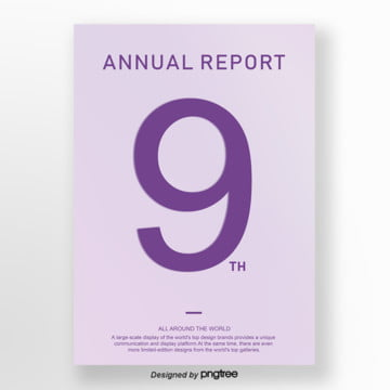 purple days about the annual report business poster Template