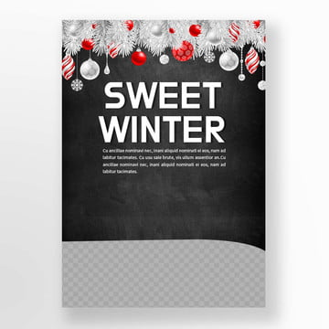 silver christmas red ball flat sawfly cakes sweets poster Template