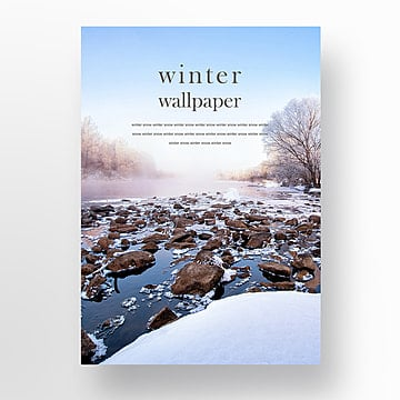 the winter snow poster about fashion Template