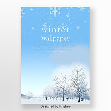 simple fashion creative winter snow poster, Winter, Originality, Fashion PNG and PSD