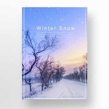 to the winter ice and snow poster Template