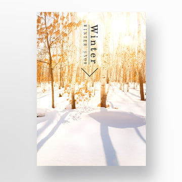 in winter  snow white and the poster Template