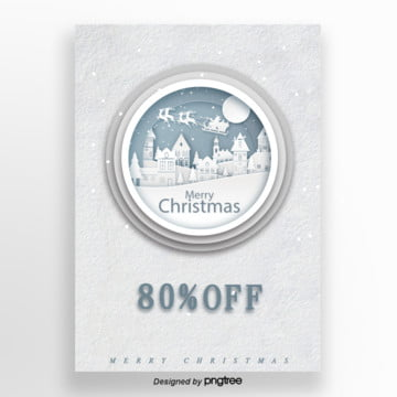 the white snow  christmas festival promotional poster Template