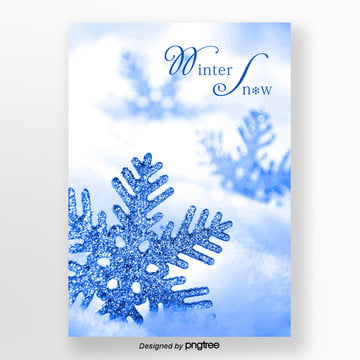 white winter snowflakes snow propaganda poster Template