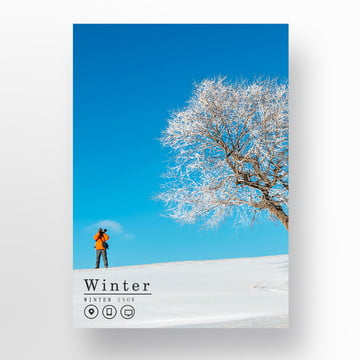snow white in the winter the poster Template