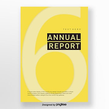 the annual report about a business newspaper, Compact, Vintage, Yellow PNG and PSD