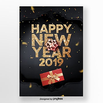 happy new year 2009 golden texture publicity poster Template