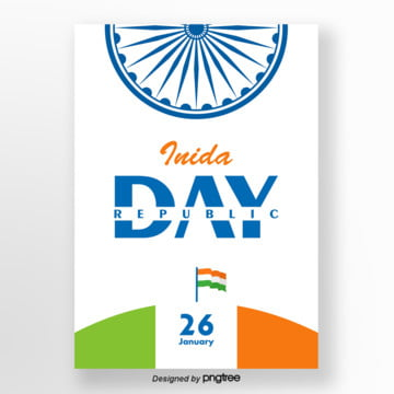 white concise indian republican poster Template