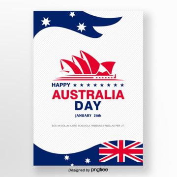 white vitality australian day poster Template