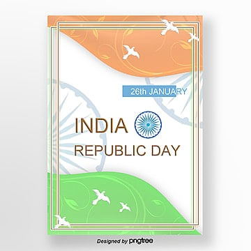 the bottom picture of the poster of the simple and fresh national flag and peace elements of the republic of india and japan Template