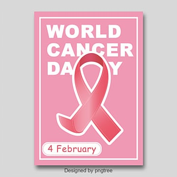 World Cancer Day posters pink simple posters Template