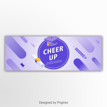blue 편평 and gradually changes the new semester the school banner Template