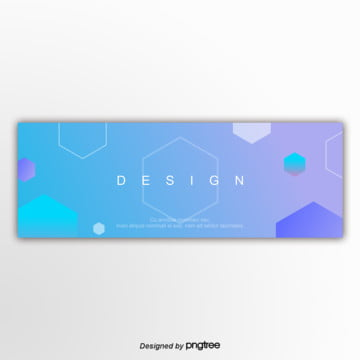 blue 편평 graphics banner gradually changes Template