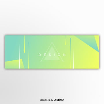 green abstract graphics banner Template