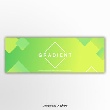 green 편평 gradually changes with the banner Template